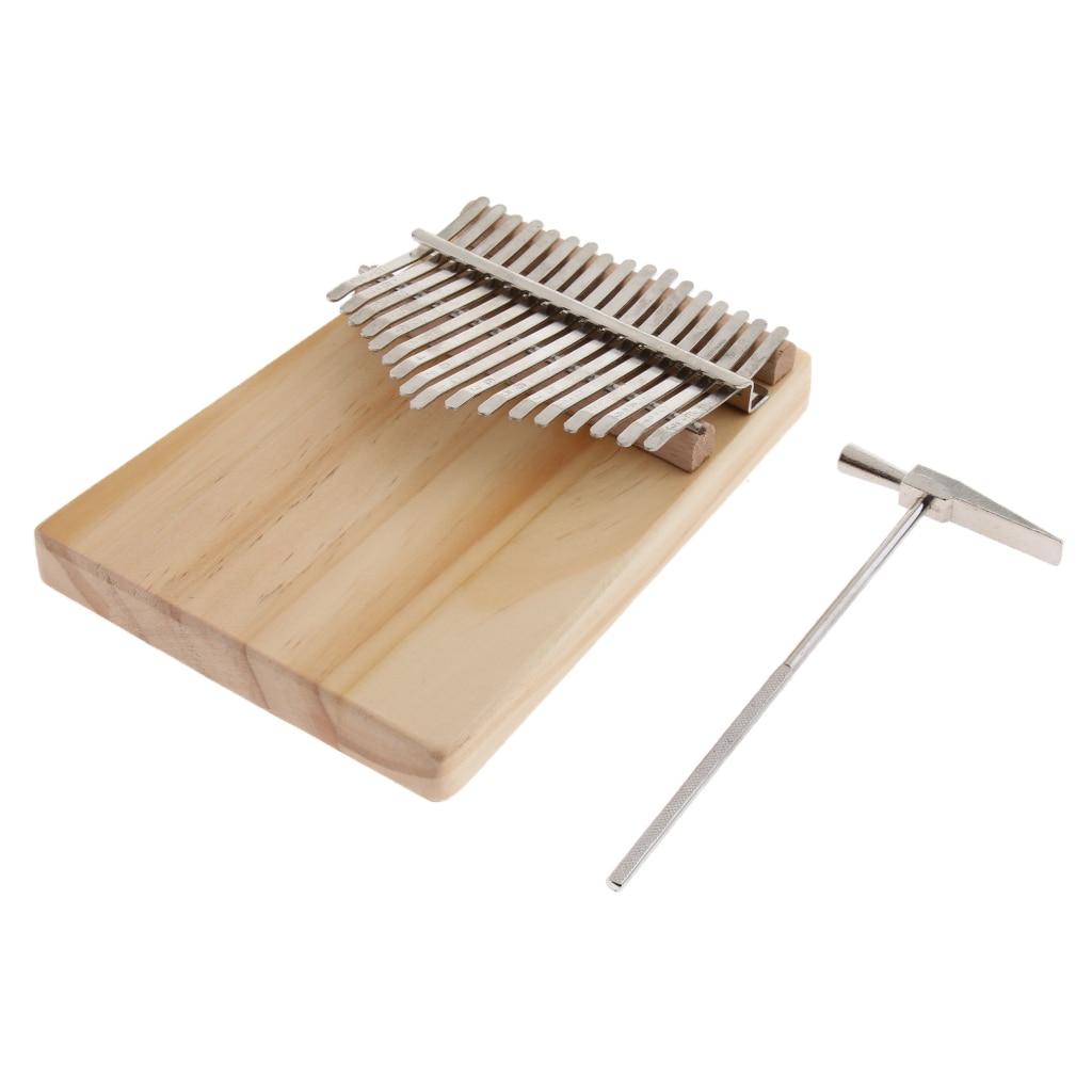 1 Set 17key Kalimba Thumb Piano Finger Percussion W/ Tuning Tool Storage Bag enlarge