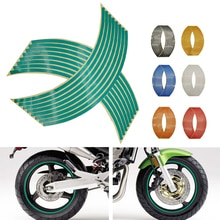 Motorcycle Wheel Sticker 3D Reflective Rim Tape Auto Decals Strips For Kawasaki Ninja GPZ500 EX500 650R ER6 F N ZZR600 Z1000 H2R