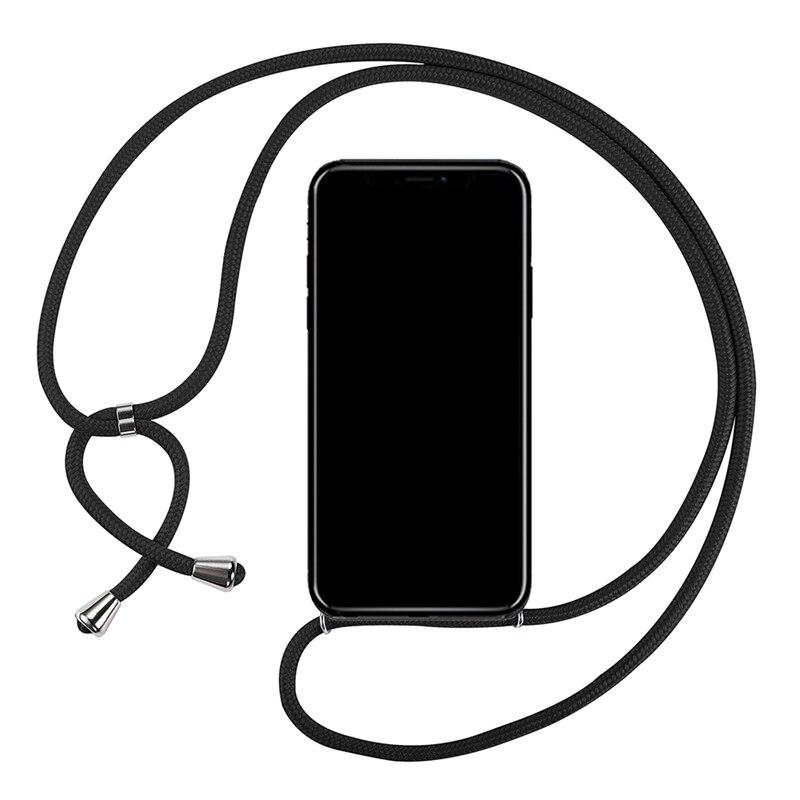 Funda suave de TPU, collar de cordón, correa de cuello de hombro, cordón de cuerda para Nokia Lumia 150 216 225 Dual Sim 215 530 540 650 550 850, cubierta