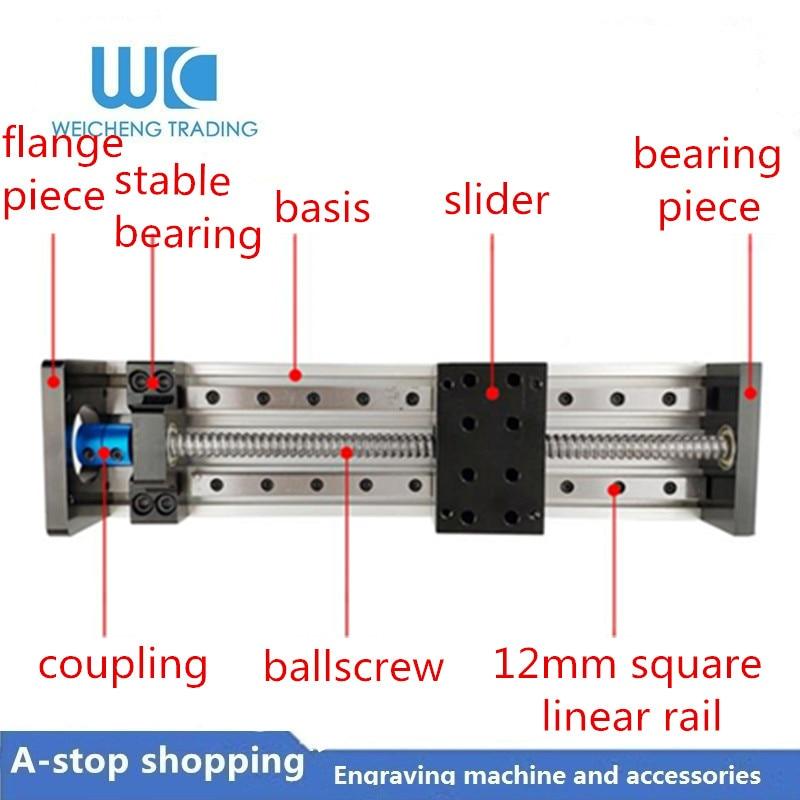 GX80 بوصة مربع السكك الحديدية SFU1605/1204/1610 100-1100 مللي متر الكرة المسمار انزلاق الجدول انزلاق عبر الخطي الشريحة منصة دليل XYZ رمح