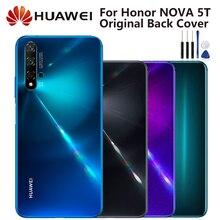 Huawei 원래 백 배터리 커버 주택 화웨이 노바 5T Nova5T 배터리 후면 유리 케이스