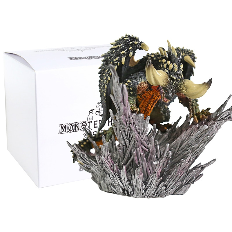 Juego monstruo arte Hunter figura Japón Anime Monster Hunter figura mundial Nergigante de PVC figuras en miniatura de juguete colección de regalos