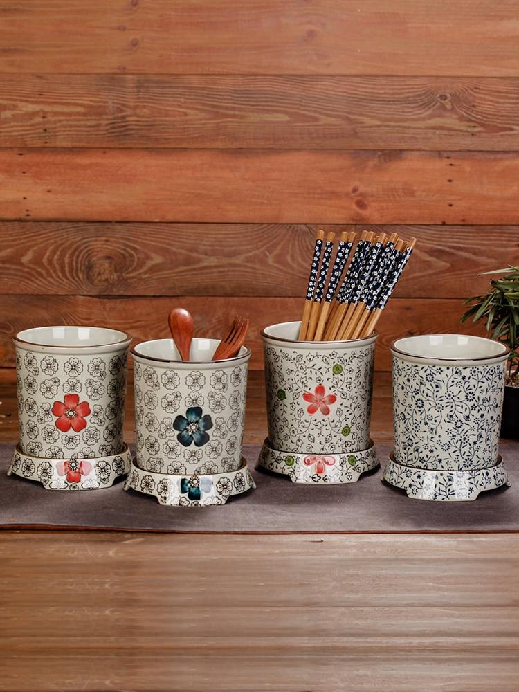 عيدان دلو عيدان تخزين الحاويات اليابانية على غرار أدوات المائدة الإبداعية المنزلية استنزاف المطبخ شخصية