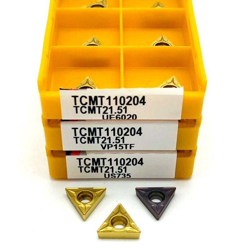 Carbide insert TCMT110204 VP15TF UE6020 metal turning tool external turning tools CNC tool lathe tool TCMT 110204 milling cutter tcmt110204 tm hp1025 carbide inserts internal turning tools tcmt 110204 cutting tool cnc tools lathe cutter