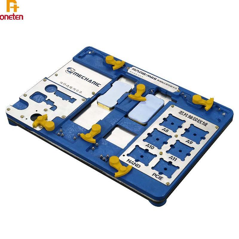Mecánico de la placa base soporte para PCB de MR8 MRX estación de trabajo para iphoneXSMAX/XR/8P/7P/6SP/6 6S/6P A7-A12CPU de reparación de chips