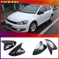 black horn shape side wing mirror cover for vw golf 7 mk7 7 5 gtd r gti gte vii cap e golf sportsvan 2013 2018 2019 2020 replace