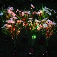 solar light led chrysanthemum lawn lamp outdoor waterproof garden villa aisle corridor christmas decoration fluorescent lamp