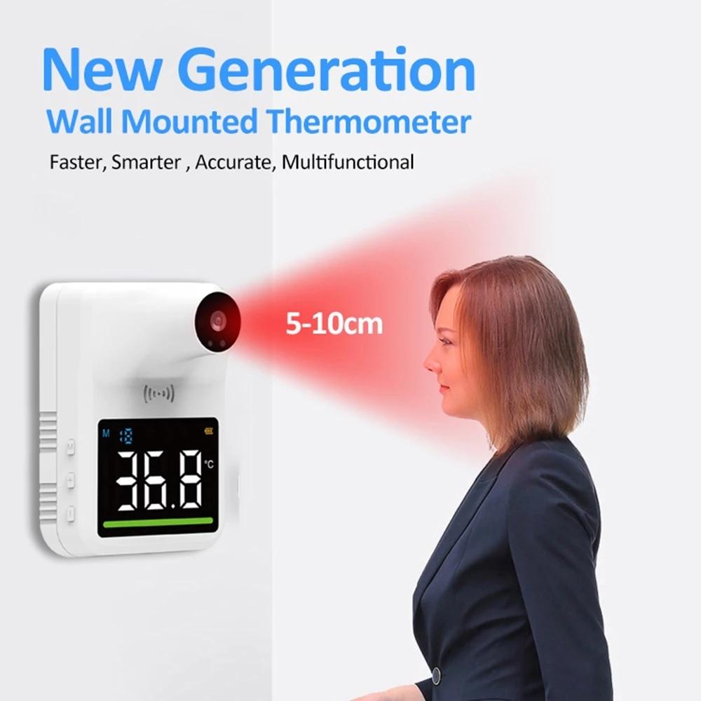 Настенный термометр для тела, Промышленный Автоматический хэндс-фри для измерения температуры тела Температура сканер, 0.5S быстрая Тесты