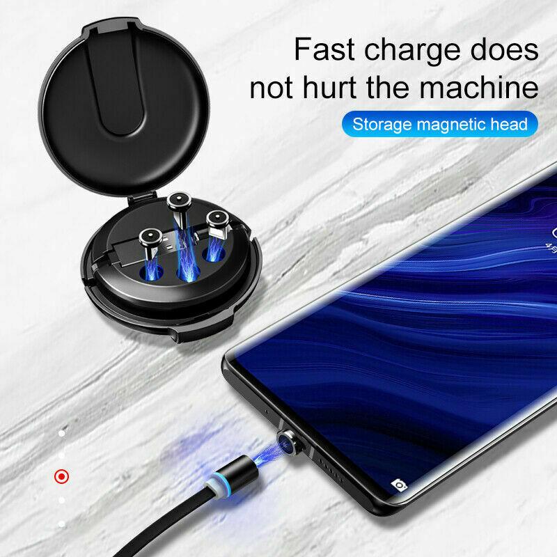 3 en 1 magnético retráctil Cable de carga rápida multifuncional portátil línea de datos cargador de móvil para coche para Iphone Android