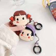 Del fumetto 3D Giappone caramelle Peko Ragazza Milky boy Auricolare Auricolare Per Il Caso di Apple Airpods Pro 1 2 3 Anello di Protezione copertura