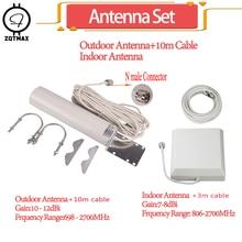 Zqtmax 12dBi Antenne Voor 850 900 1800 2100 2600 Mhz 2G 3G 4G Mobiele Signaalversterker Gsm repeater Lte Umts Internet Versterker