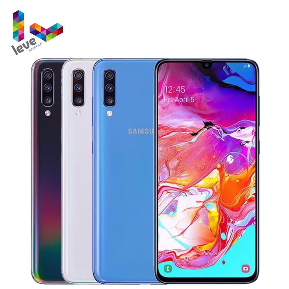 Samsung Galaxy A70 A7050 2SIM разблокирован мобильный телефон 6,7 дюйм 6/8 Гб оперативной памяти 128 ГБ ROM Octa Core NFC 3 тыловая камера 32MP Android смартфон