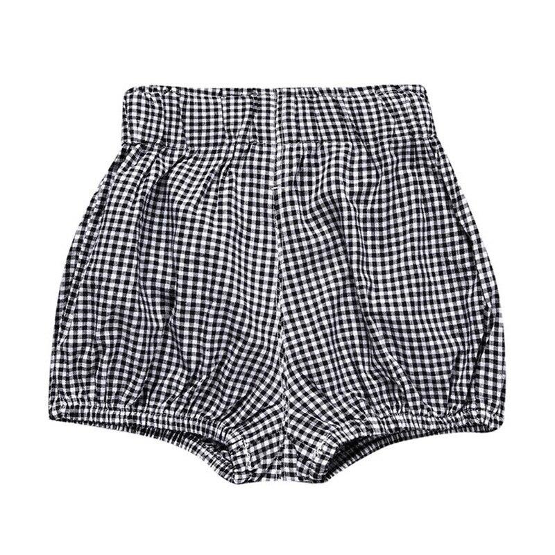Купить с кэшбэком 0-5Y Kawaii Newborn Baby Boys Bloomer Shorts Triangle PP Pants Cotton Linen Solid Dot Girls Short Summer Trouser Toddler Clothes
