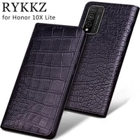 cowhide luxury genuine leather case for honor 8x max 9x lite 20 10 10x lite magnetic flip cover
