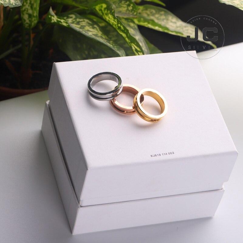 Moda búlgara glamour anel anel anel de aço inoxidável, anel masculino anel feminino anel conjunto anel de casamento jóias presente com logotipo