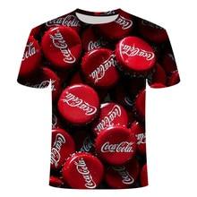 2019 sommer Casual 3D Drucken T-shirt Koks Mode T Hemd Männer Frauen Streetwear Kurzarm Lose TopTee T-shirts Asiatische Größe s-6xl