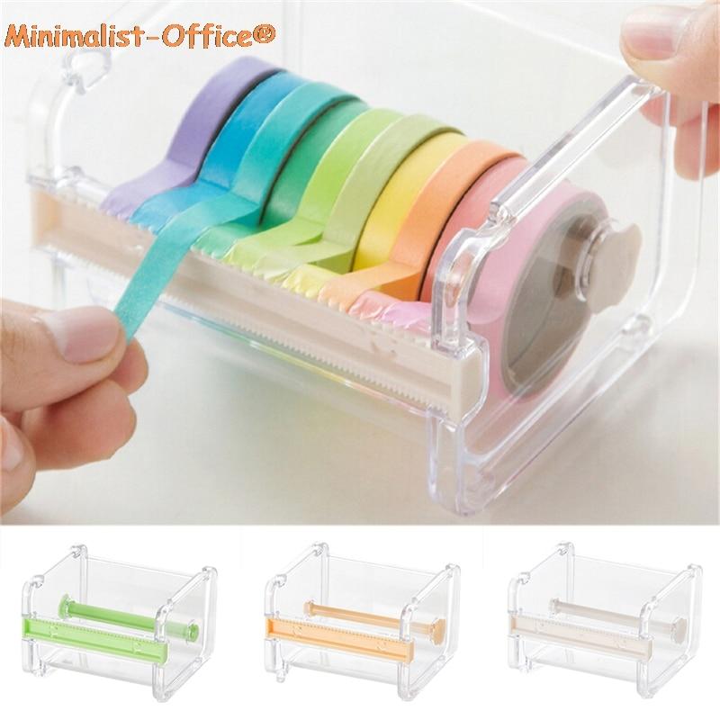 1 предмет японская Канцелярия резак для малярной ленты лента Washi органайзер для хранения держатель режущего инструмента для офиса установк...