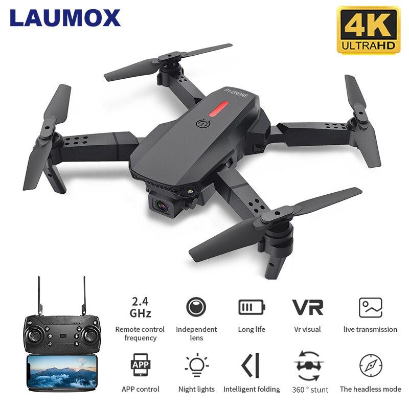 Laumox m73 zangão com wifi fpv 480p 4k hd câmera dupla rc quadcopter 15 minutos de tempo de vôo siga-me mini dron vs sg107 e58