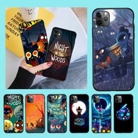 cutewanan adventure game night in the woods soft phone case cover for iphone 11 pro xs max 8 7 6 6s plus x 5s se 2020 xr case