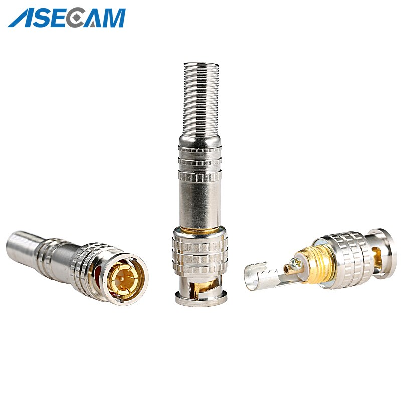 CCTV Accessories PURE COPPER Soldering BNC Video Male Connector Plug to RG59 Coaxial Cable Coupler Adapter for Security Camera enlarge