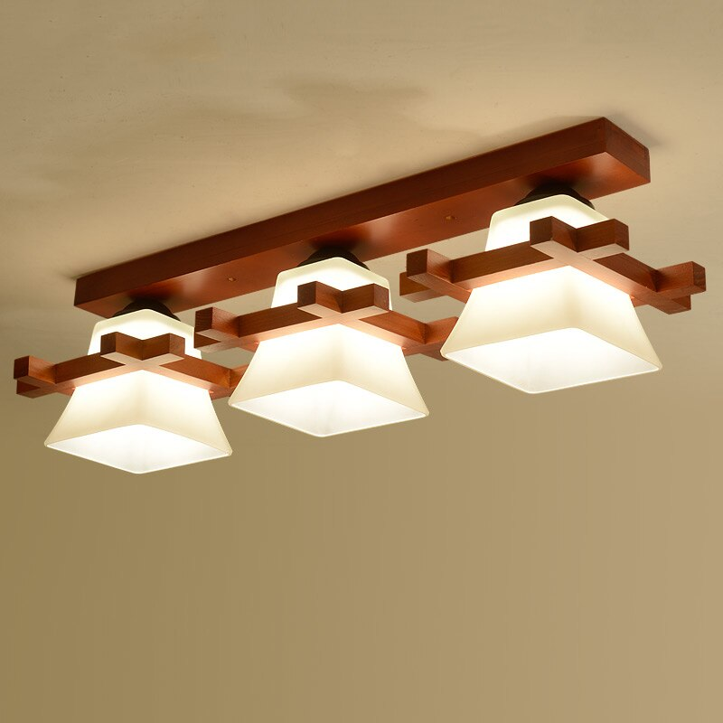 Solid wood ceiling lamp balcony American Scandinavian new chinese aisle corridor light
