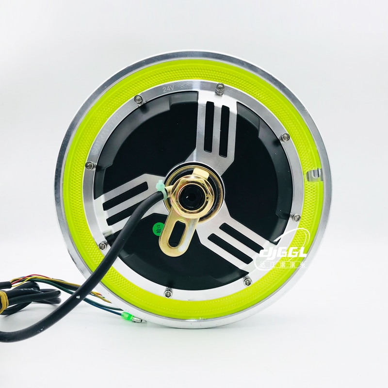 New Australian m 12 inch small dolphin three rounds of brushless toothless one wheel hub with 24 v350w PanGu brake motor enlarge