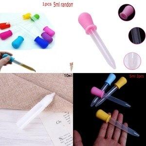 1/2 шт. 5/10 мл прозрачная маленькая силиконовая пластиковая Пипетка для кормления, медицинская жидкая Пипетка с глазами, градуированная Пипет...
