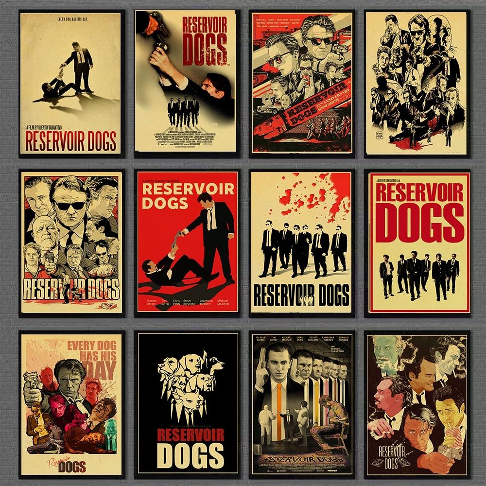 Quentin Tarantino series movie poster Reservoir Dogs kraft paper high quality print home decor retro poster for home/bar