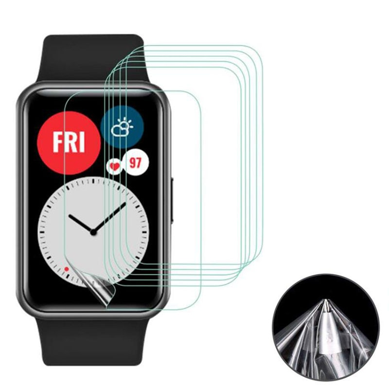 5pcs TPU transparente, blando película protectora para Huawei Watch Fit /Honor reloj inteligente ES la pantalla Protector de la cubierta inteligente de protección