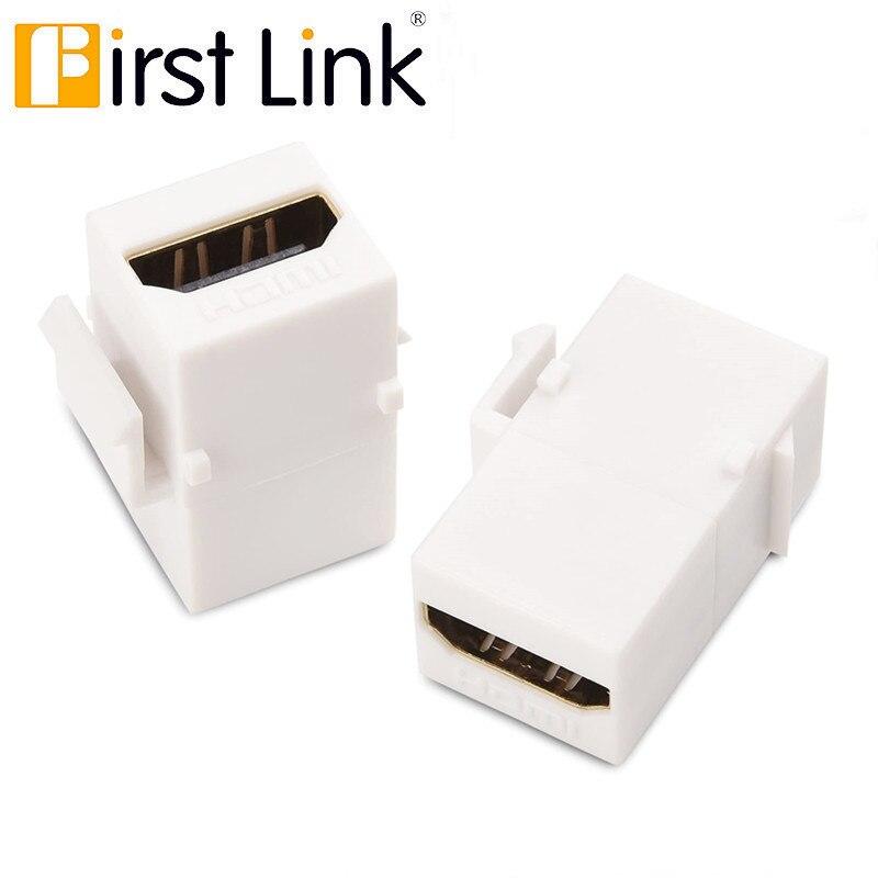 Conector Keystone HDMI, acoplador hembra, conector Snap-in, adaptador de puerto para Panel de salida de placa de pared