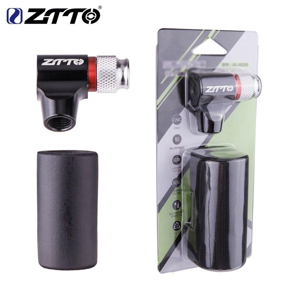ZTTO-Mini bomba de aire AV / FV para bicicleta, con cabeza manual y botella de CO2, inflador rápido de aire para bicicleta de montaña o de carretera