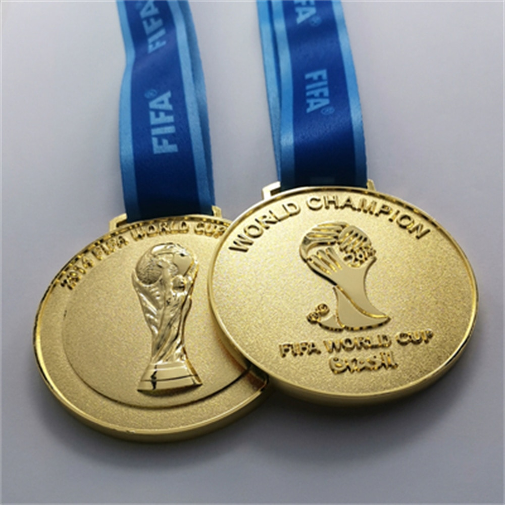 FIFA 2014-2018 Brazil Russia World Cup Metal award Medal Football Fan Limited Hanging Collection souvenir Gift