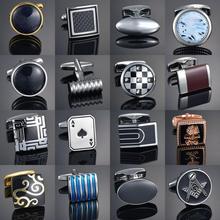 Qualité gemmes artisanat boutons de manchette bouton fleur motif or cheval motif tissu français ovale chemise gemelos boutons de manchette