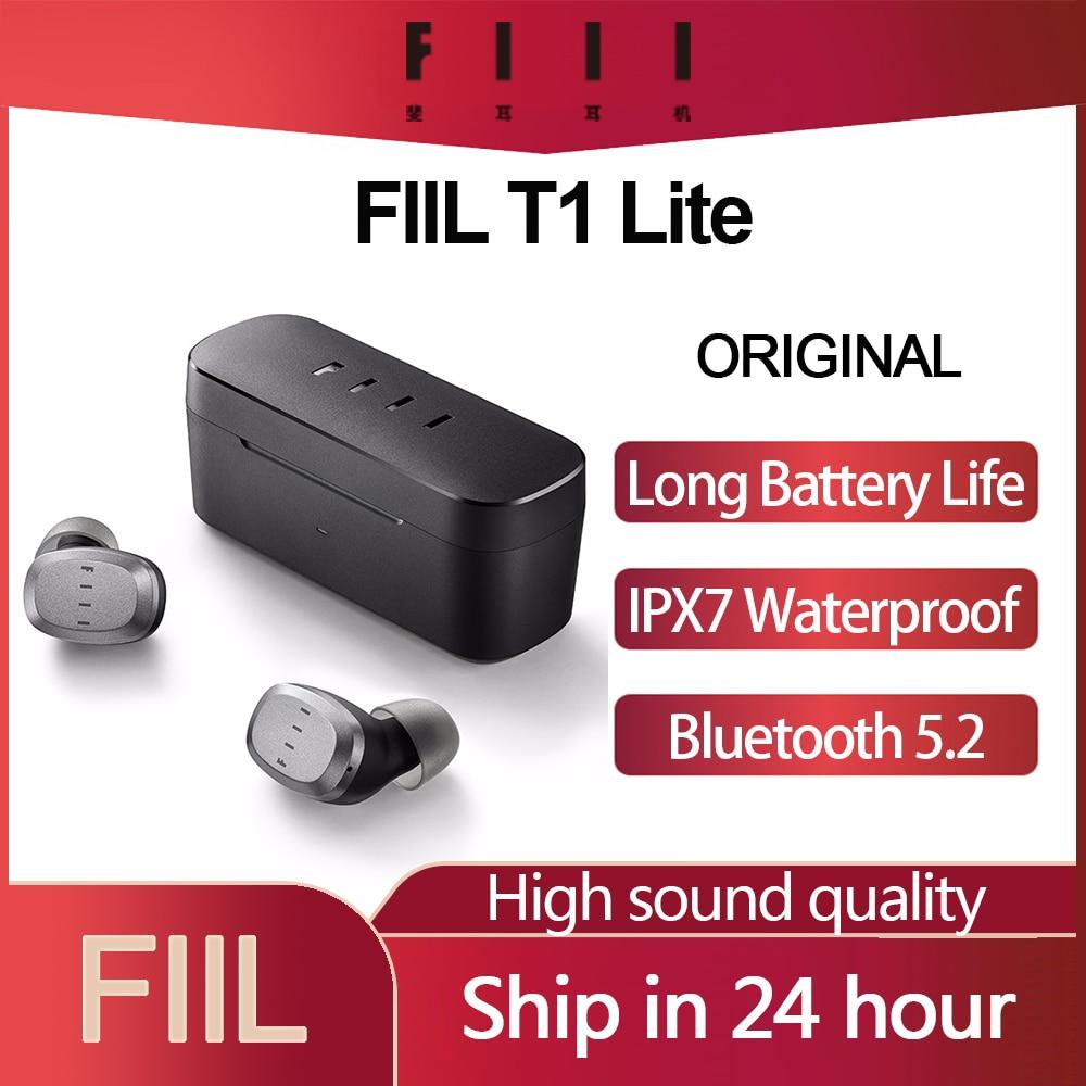 Original FIIL T1 Lite TWS Bluetooth 5.2 Earbuds True Wireless Earphones Long Battery Life ENC HiFi IPX7 Waterproof with Mic