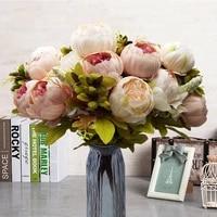 Pivoine artificielle a 13 tetes  1 piece  accessoire de photographie  decoration florale pour fete de mariage  bureau  maison  bricolage  Art  decoration de mariage