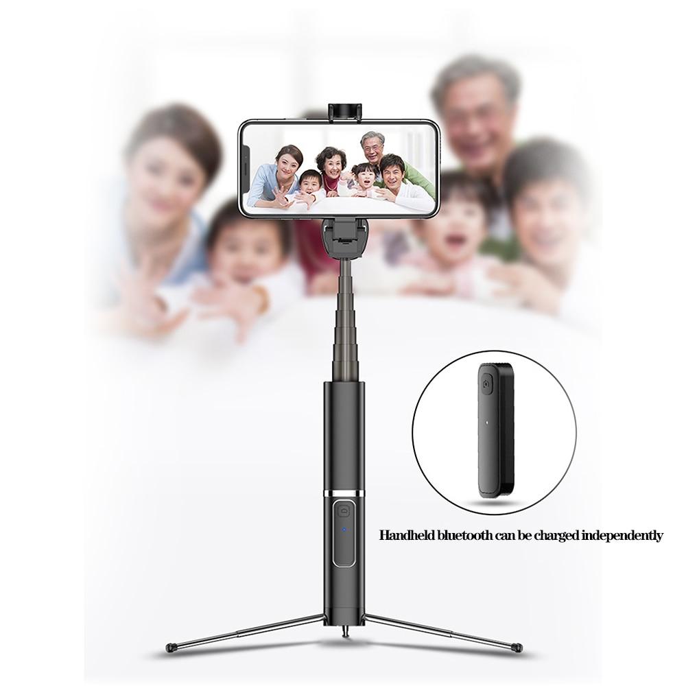 Disparador remoto inalámbrico Bluetooth temporizador automático 3 en 1 trípode varilla telescópica para Apple Huawei Samsung de lujo de moda Selfie palo