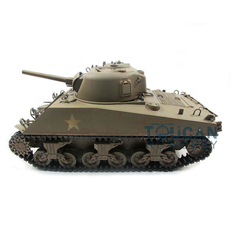 US Stock Mato Metal 1/16 M4A3 Sherman RC Tank RTR инфракрасная отдача 1230 TH00673-SMT4