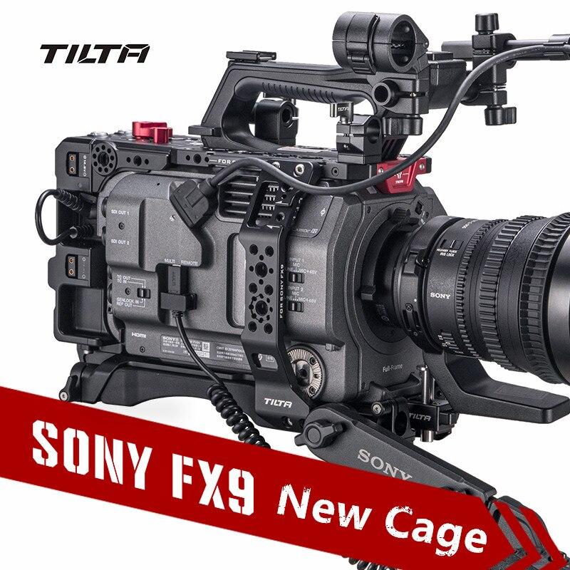 Tilta fx9 gaiola de câmera para sony, câmera PXW-FX9, plataforma de montagem completa com VCT-U14 baseplate de liberação rápida, placa de bateria em v ES-T18-V