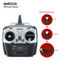 Émetteur et récepteur RC Radiolink T8FB 8CH R8EF 2.4GHz contrôleur Radio SBUS/PPM/PWM pour Drone/aile fixe et plus (Mode 2)