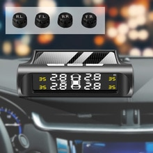 Solar Power TPMS Car Tire Pressure Alarm Monitor System Auto Security Alarm System LCD Display Tyre