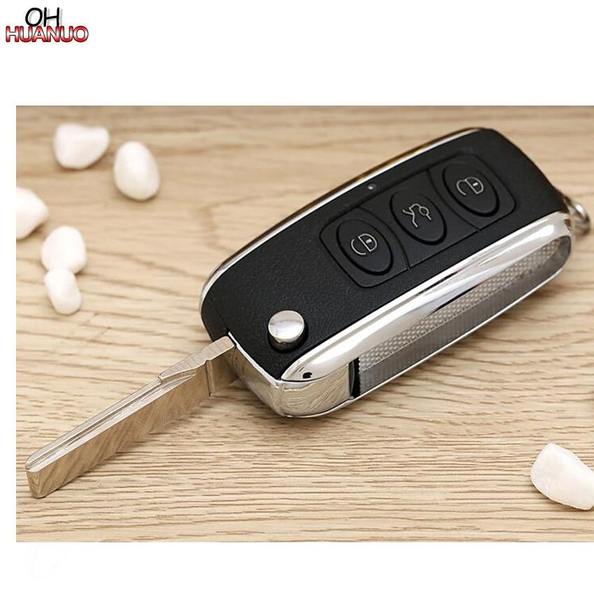 3 кнопки для V-W B5 пульт дистанционного ключа оболочки для Bentley стиль серебро сторона Модифицированная откидная оболочка ключа дистанционного управления
