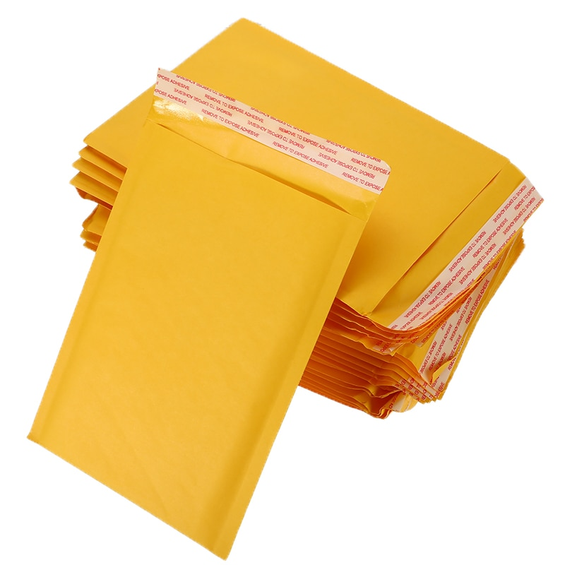 50 PCS Kraft Paper Bubble Envelopes Bags Envelope with Bubble Mailing Bag Drop Shipping Bubble Mailers Mailers Padded Shipping
