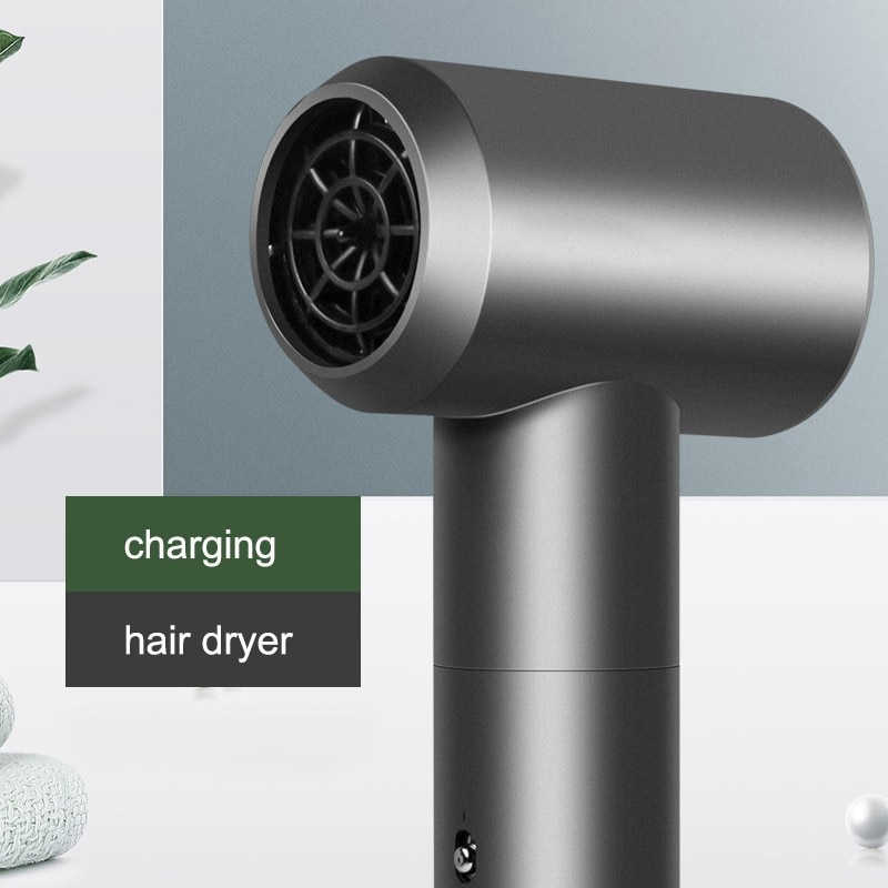 Professional Portable Wireless Hair Dryer Smart Cordless Hot and Cold Air Mode USB Rechargeable UMAY Hair Drier Blower Salon enlarge