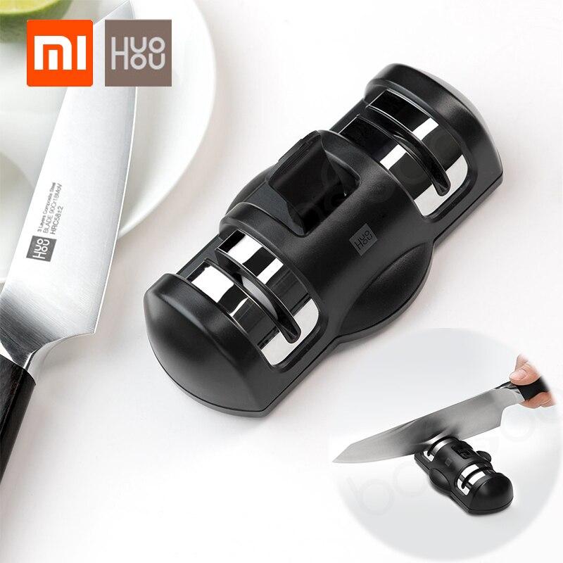 Xiaomi Mijia Huohou точильный брус для ножей двухколесный кухонный заточка шлифовального станка ножи инструменты для кухонных ножей