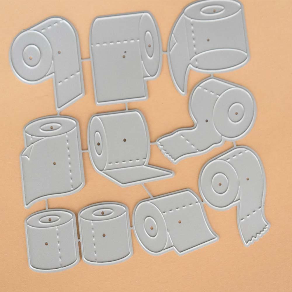 Toilet Paper Cutting Dies Carbon Steel Stencils for DIY Scrapbooking Paper Cards Embossing album Craft Cut Die DM0754