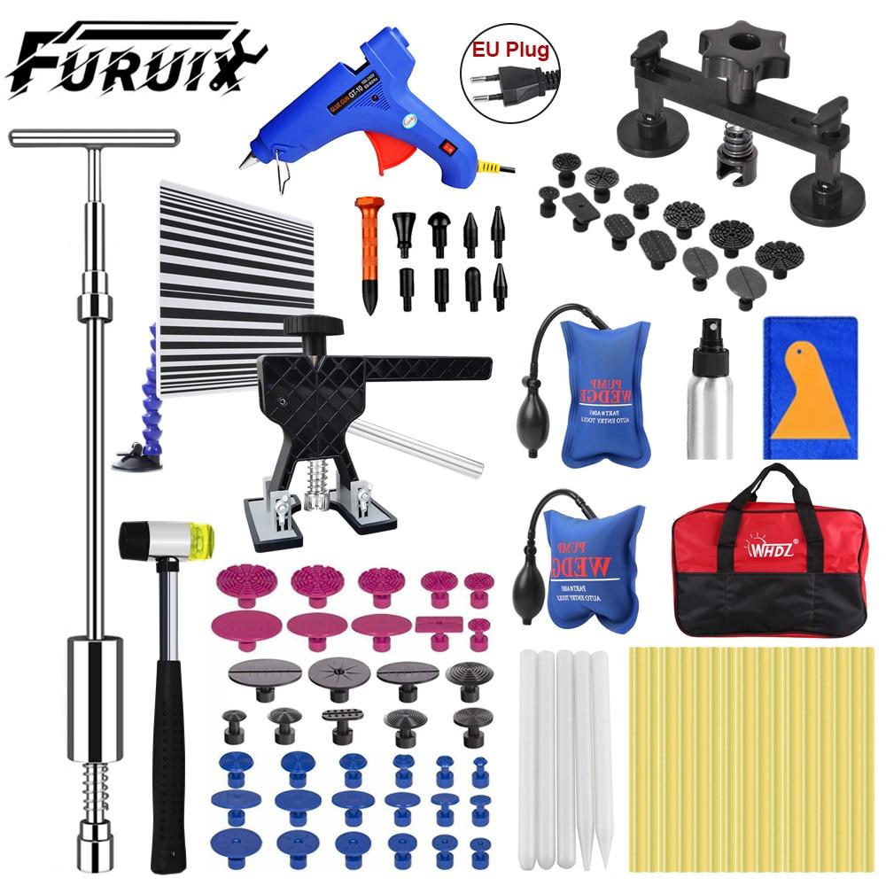 FURUIX Tool Set Car Dent Silver Bridge Paintless Dent Repair Kit Pullers Tools Dent Removal Tools Dent Remover For Cars