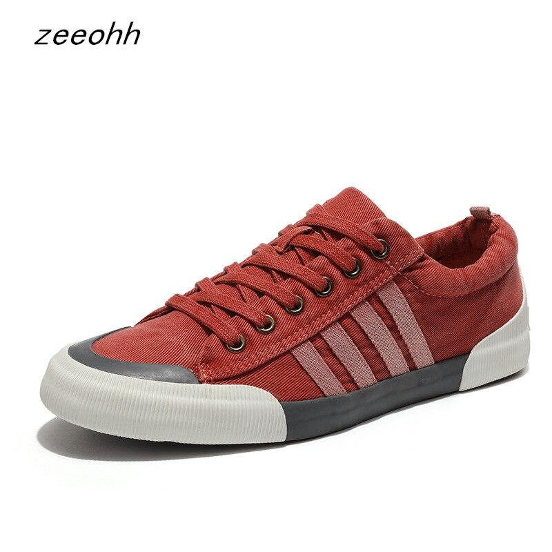 Calzado de lona masculino de alta calidad 2019 zapatos vulcanizados de Color sólido para hombre con cordones zapatillas casuales blancas tenis masculino