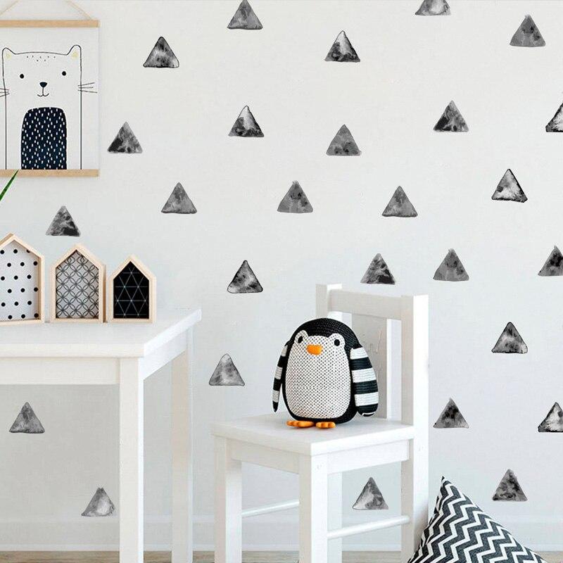 54 шт. чернильные треугольники DIY стикер на стену цвет воды Окрашенные стиль детская комната креативные наклейки Ins простые Бохо художествен...