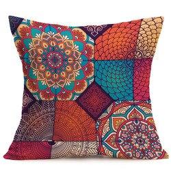 # L5 New Bohemian Padrão de Linha de Lance algodão Travesseiro Capa de Almofada Carro Fronha sofá cama casa decoração capa de almofada