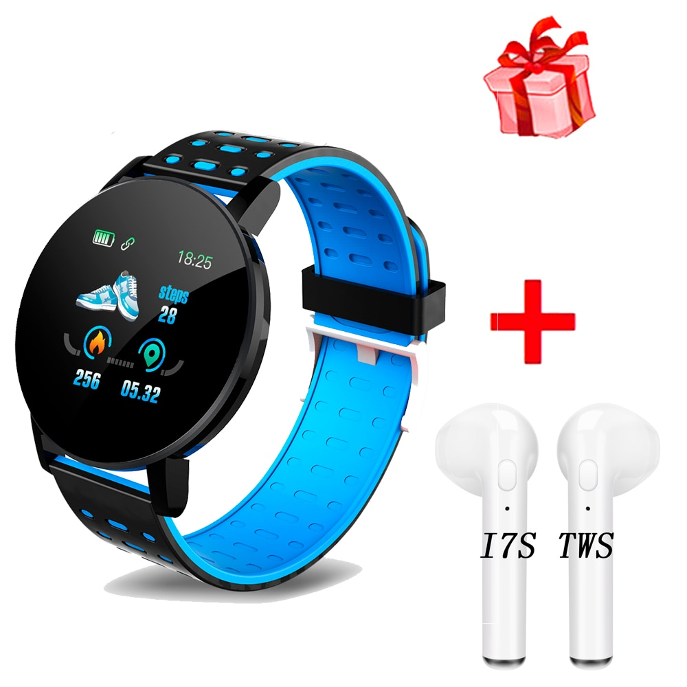 119 Plus Smart Bracelet Heart Rate Smart Watch D18 Man Wristband Sports Watches Band Waterproof Smar